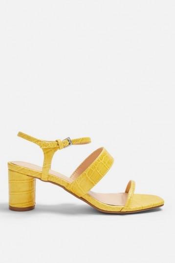 TOPSHOP DITA Lime Crocodile Strap Sandals