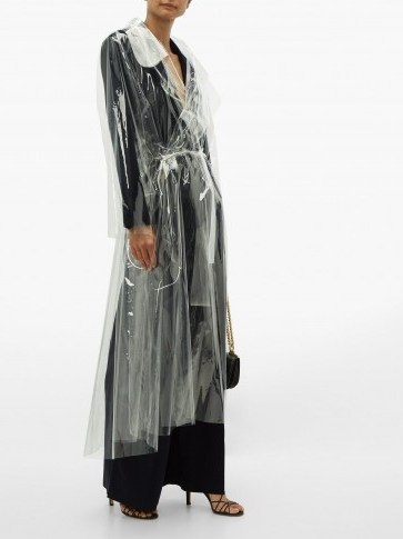 NORMA KAMALI Dolman transparent PVC trench coat ~ clear coats - flipped