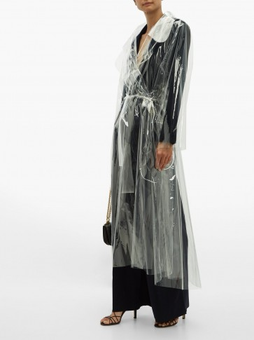 NORMA KAMALI Dolman transparent PVC trench coat ~ clear coats