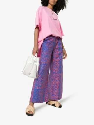 Double Rainbouu On Shore Wide Leg Trousers | pink and purple summer pants