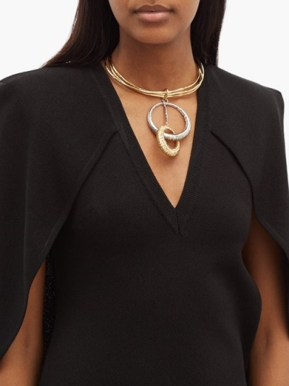 GIVENCHY Eclipse two-tone ring necklace
