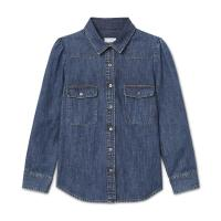 G. Label ELISE DENIM SHIRT in MEDIUM WASH / classic blue shirts