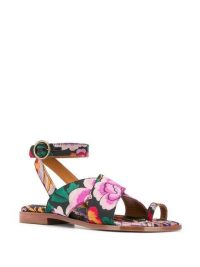 ETRO floral ankle strap sandals