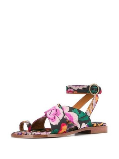 ETRO floral ankle strap sandals - flipped