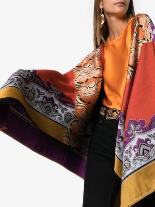 Etro Jacquard Knitted Cape Poncho ~ luxe printed capes