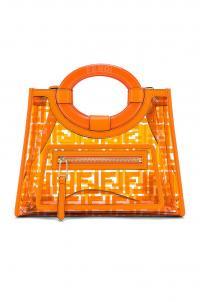 FENDI Mini Runaway Shopping Logo Tote Orange / bright PVC designer handbag