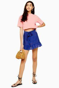TOPSHOP Flippy Button Mini Skirt