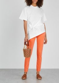 FRAME DENIM Le High Skinny orange jeans