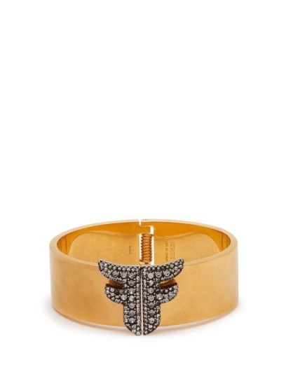 FENDI Freedom FF crystal-embellished cuff – gold-tone cuffs - flipped
