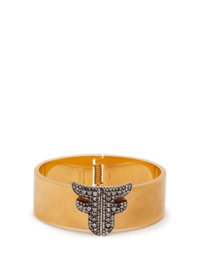 FENDI Freedom FF crystal-embellished cuff – gold-tone cuffs