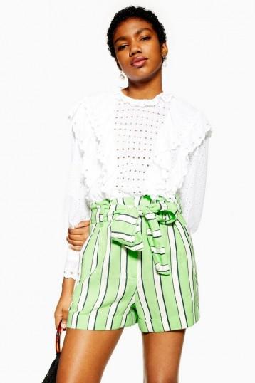 Topshop Green Stripe Shorts | summer fashion