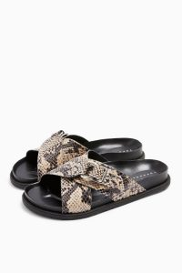 Topshop HILTON Footbed Sandals Natural