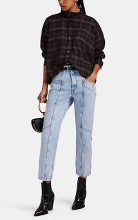 ISABEL MARANT ÉTOILE Notty Straight Crop Jeans ~ light-blue seamed denim ~ cropped leg