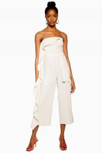 Topshop Ivory Frill Bandeau Jumpsuit | fashion for summer evening parties