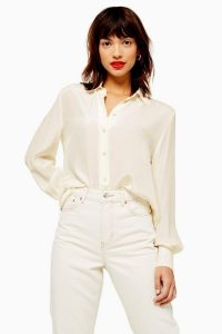 Topshop Ivory Silk Shirt | wardrobe essentials