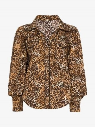 Johanna Ortiz Leopard Print Blouse / brown animal prints