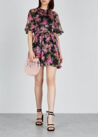 KEEPSAKE Oblivion floral georgette mini dress ~ flouncy fashion
