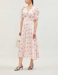 KITRI Serafina floral-print satin midi dress