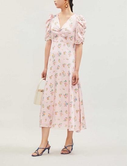 KITRI Serafina floral-print satin midi dress
