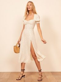 Reformation Lacey Dress in Pepper | puffed sleeve summer dresses