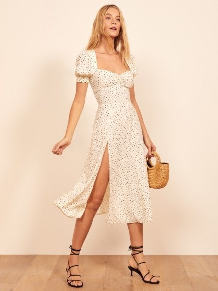 Reformation Lacey Dress in Pepper | puffed sleeve summer dresses - flipped