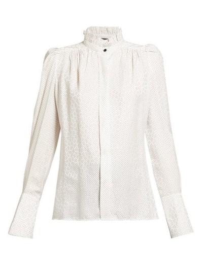 ISABEL MARANT Lamia silk-blend blouse ~ elegant white blouses