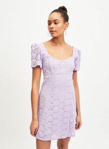MISS SELFRIDGE Lilac Lace Tea Dress
