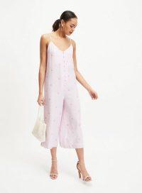 MISS SELFRIDGE Lilac Spot Romper Jumpsuit – strappy summer fashion