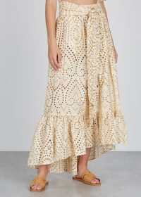 LISA MARIE FERNANDEZ Nicole eyelet-embroidered cotton skirt ~ cream summer vacation skirts