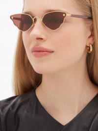 MOY ATELIER Little Ripple butterfly gold-plated sunglasses ~ beautiful summer accessory