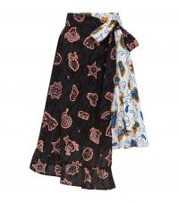 Loewe x Paula's Ibiza Printed Wrap Skirt | multi print summer skirts