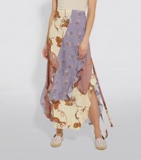 Loewe x Paula's Ibiza Printed Wrap Skirt | ruffled handkerchief hem skirts