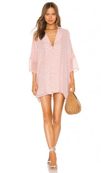 LPA Dress Shirt in Pink Leopard - flipped