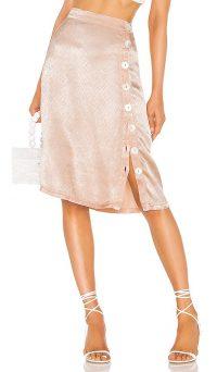 LPA Ravenna Skirt in Blush – pink side button skirts