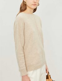 Womens Knitwear MAX MARA Masque fine-knit cashmere jumper beige – casual luxe