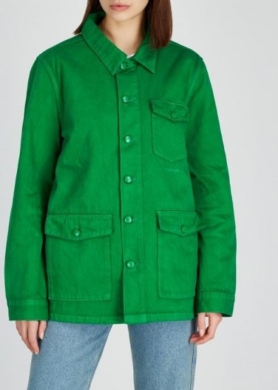 MC OVERALLS Green denim jacket ~ utility style clothing