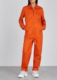 MC OVERALLS Orange twill overalls