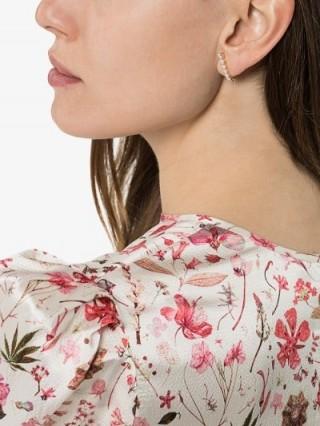 Melissa Kaye 18K Gold Aria Hook Diamond Earrings | a little luxe