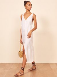 REFORMATION Monique Dress White