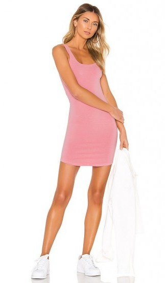 MONROW Square Neck Tank Dress Peachy Pink – hot weather look - flipped