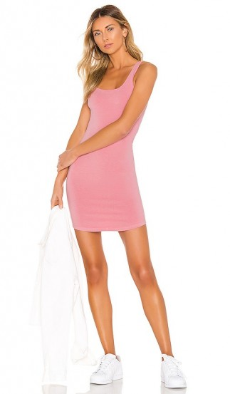 MONROW Square Neck Tank Dress Peachy Pink – hot weather look