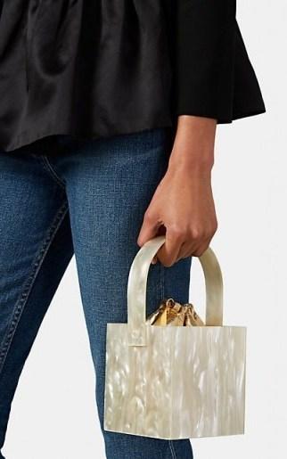MONTUNAS Stelis Mini Bag ivory and metallic gold - flipped