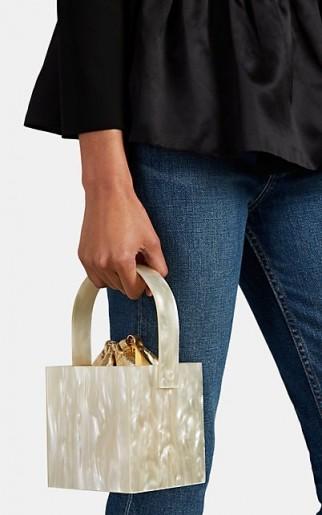 MONTUNAS Stelis Mini Bag ivory and metallic gold