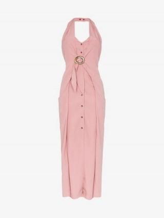 Nanushka Liya Pink Halterneck Sleeveless Dress ~ chic summer clothing