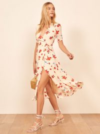 Reformation Napa Dress in Chagall | floral plunge front wrap dresses