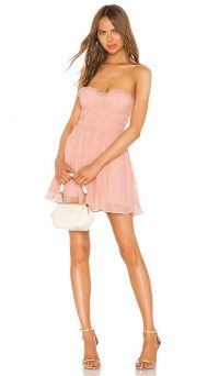 NBD Josephine Mini Dress in Blush Nude – pink strapless fit and flare