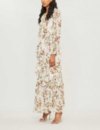 NEEDLE AND THREAD Garland Petal floral-print chiffon gown