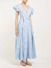 KALITA New Poet by the Sea ruffled blue cotton dress ~ vacation dresses