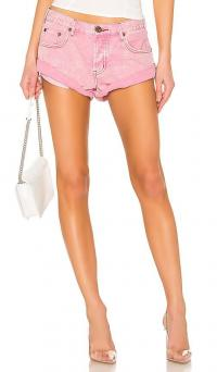 One Teaspoon Bandits Denim Shorts in Evil Eye