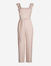 PAIGE Marino striped woven jumpsuit muted clay